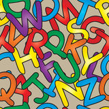 Seamless Alphabet Pattern. Seamless and brightly colored alaphabet pattern stock illustration