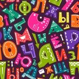 Seamless alphabet pattern Royalty Free Stock Photos