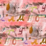 Seamless The alphabet watercolor artist wallpaper modern texture. Of handmade ornament Royalty Free Stock Photography