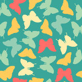 Seamless amazing vintage blue butterfly pattern Royalty Free Stock Image