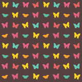 Seamless amazing vintage butterfly texture Royalty Free Stock Images