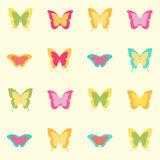 Seamless amazing vintage butterfly texture Stock Photos