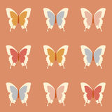 Seamless amazing vintage butterfly texture Royalty Free Stock Image