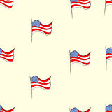 Seamless American flags Royalty Free Stock Image