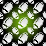 Seamless american football balls Stock Photos