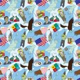 Seamless american pattern Stock Photo
