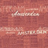 Seamless amsterdam holland background Royalty Free Stock Images
