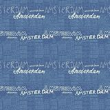 Seamless amsterdam holland background Stock Photos
