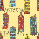Seamless amsterdam holland background Royalty Free Stock Image