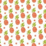 Seamless ananas mönstrar Arkivfoto