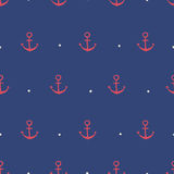 Seamless anchor pattern. Seamless pattern, anchor art background design for fabric and decor royalty free illustration