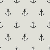 Seamless anchor pattern. Seamless pattern, anchor art background design for fabric and decor stock illustration