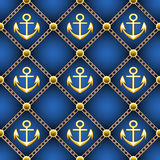 Seamless anchor pattern Stock Image