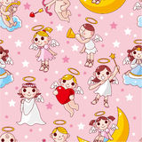 Seamless angel pattern Stock Photography