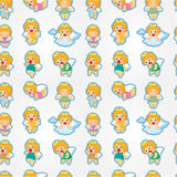 Seamless angel pattern Royalty Free Stock Photo