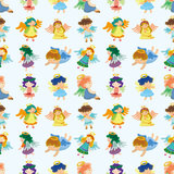 Seamless angel pattern Stock Photos
