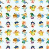 Seamless angel pattern Stock Photos