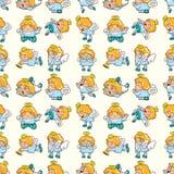 Seamless angel pattern Stock Image