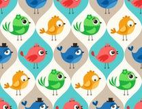 Seamless animal birds pattern Royalty Free Stock Photo