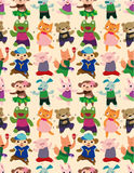 Seamless animal dance pattern Royalty Free Stock Images
