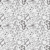 Seamless animal dancing pattern Royalty Free Stock Images