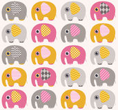 Seamless animal elephant pattern Royalty Free Stock Images