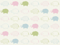 Seamless animal elephant pattern Royalty Free Stock Photo