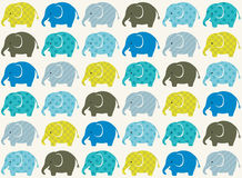 Seamless animal elephant pattern Royalty Free Stock Image