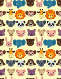 Seamless animal face pattern Stock Image
