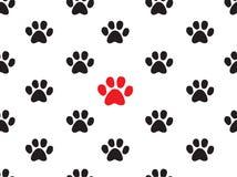 Seamless animal footprint pattern Stock Photo