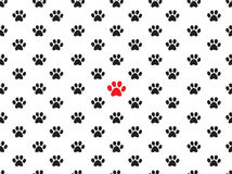 Seamless animal footprint pattern Stock Images