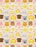Seamless animal head pattern Royalty Free Stock Photography