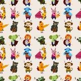 Seamless animal music pattern Royalty Free Stock Image