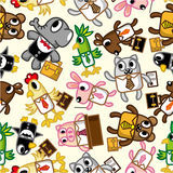 Seamless animal office worker pattern Stock Image