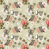 Seamless animal pattern Royalty Free Stock Photos