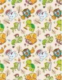Seamless animal pattern. Vector illustration Stock Photos
