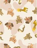 Seamless animal pattern Stock Image