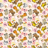 Seamless animal pattern Royalty Free Stock Images