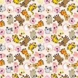 Seamless animal pattern. Drawing Royalty Free Stock Images