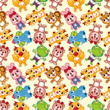Seamless animal pattern Stock Image