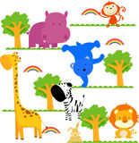 Seamless animal pattern. Illustration of seamless animal pattern Royalty Free Stock Photos