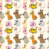Seamless animal pattern Royalty Free Stock Photography