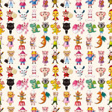 Seamless animal pattern Stock Photos