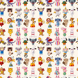 Seamless animal pattern Stock Images