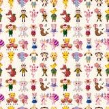 Seamless animal pattern. Cartoon vector illustration Royalty Free Stock Photo