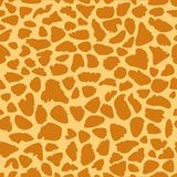 Giraffe skin texture, seamless pattern, repeating the orange and yellow spots, background, Safari, zoo, jungle. Vector. Seamless animal pattern. Imitation print stock illustration