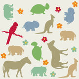 Seamless animal pattern for kids Royalty Free Stock Photo
