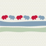 Seamless animal pattern for kids Royalty Free Stock Images