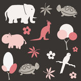 Seamless animal pattern for kids Stock Image