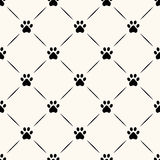 Seamless animal pattern of paw footprint. Stock Photo
